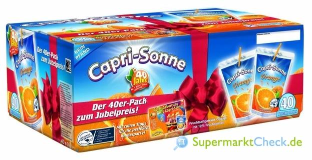 Foto von Capri Sonne Orange 40-er Jubiläumspack