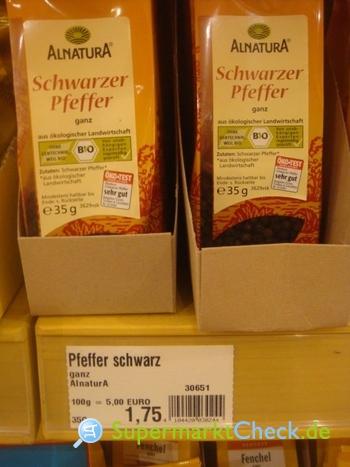Foto von Alnatura Schwarzer Pfeffer
