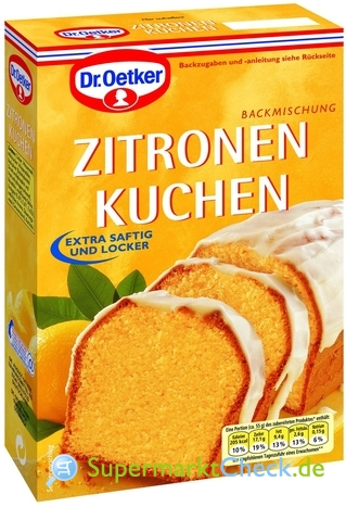 Foto von Dr. Oetker Zitronen Kuchen
