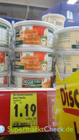 Foto von Veggie Street Bio Sandwichpastete Nuss-Paprika
