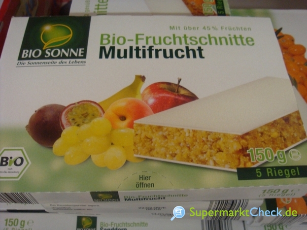 Foto von Bio Sonne Bio Fruchtschnitte