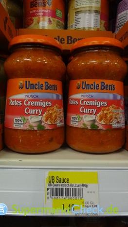 Foto von Uncle Bens Sauce Indisch