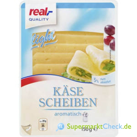 Foto von real Quality Käsescheiben