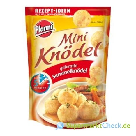 Foto von Pfanni Mini Knödel geformte Semmelknödel