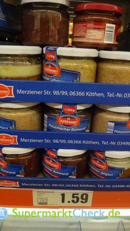 Foto von Köthener Hausmacher Rotwurst