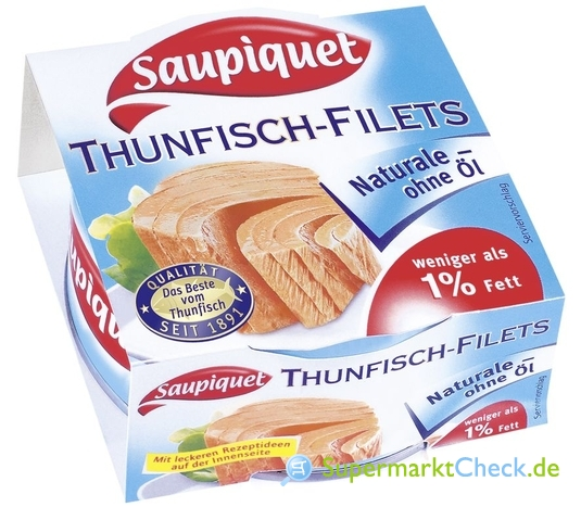 Foto von Saupiquet Thunfisch-Filets Naturale