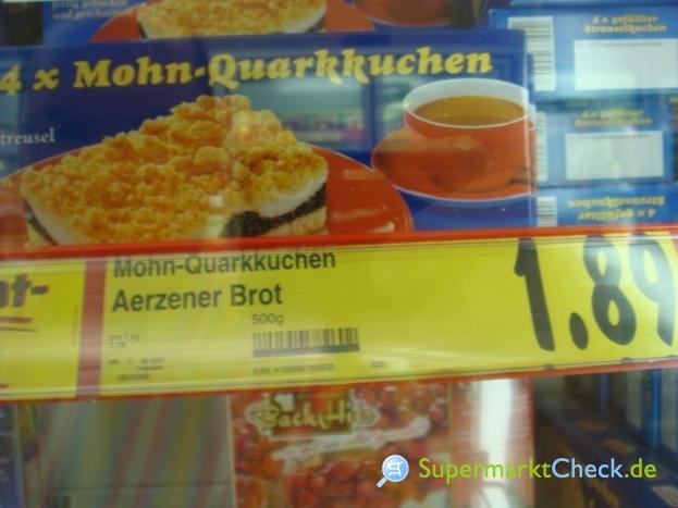 Foto von Aerzener Unsere Klassiker Mohn-Quarkkuchen
