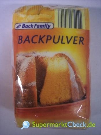 Foto von Back Family Backpulver