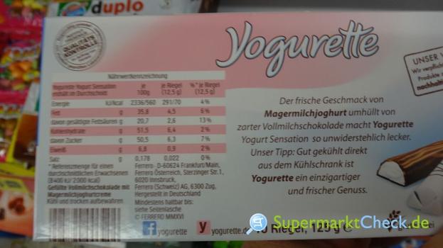 Yogurette Yoghurt Sensation Nutri Score Kalorien Angebote Preise