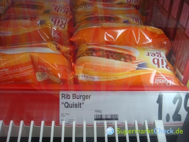 Foto von Quisit Rib Burger Fix und Fertig