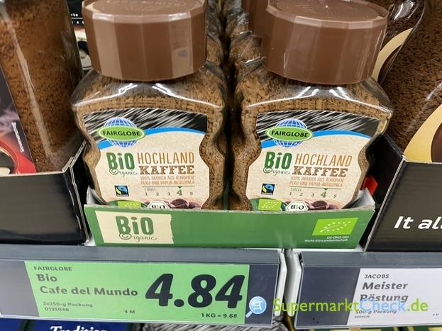 Foto von Fairglobe löslicher Bio Hochland-Kaffee