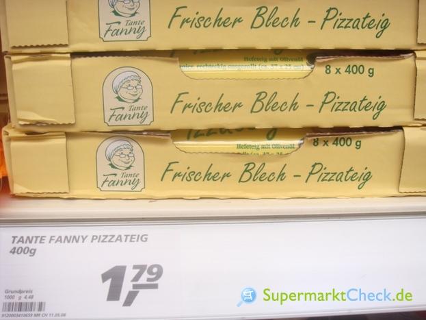 Foto von Tante Fanny Frischer Blech Pizzateig
