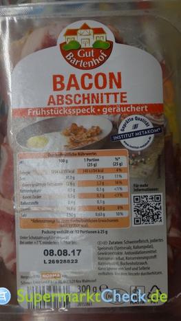 Foto von Gut Bartenhof Bacon Abschnitte