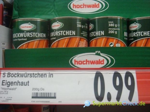 Foto von Hochwald Bockwürstchen