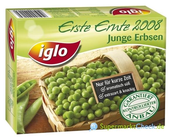 Foto von Iglo Erste Ernte Junge Erbsen