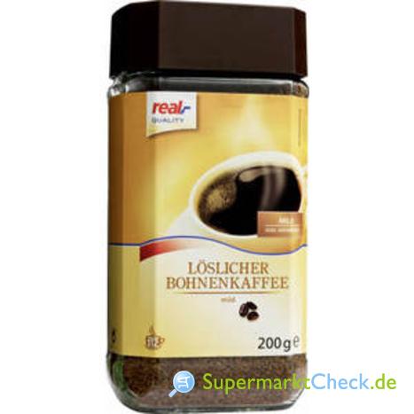Foto von real Quality Löslicher Bohnenkaffee