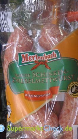 Foto von Mertenbach Schinken Zwiebelmettwurst