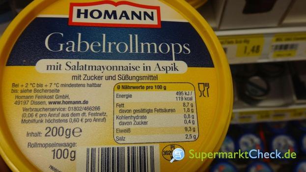 Foto von Homann Salat Buffet Gabelrollmops