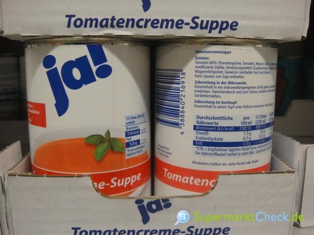 Foto von ja! Tomatencreme Suppe