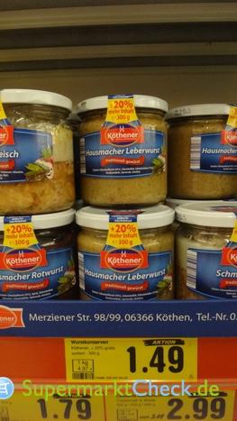 Foto von Köthener Hausmacher Leberwurst