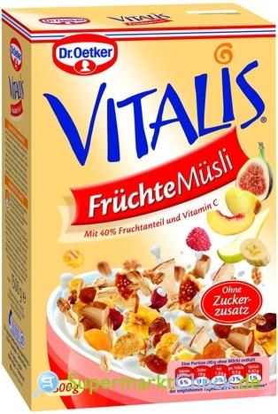 Foto von Dr. Oetker Vitalis Früchte Müsli