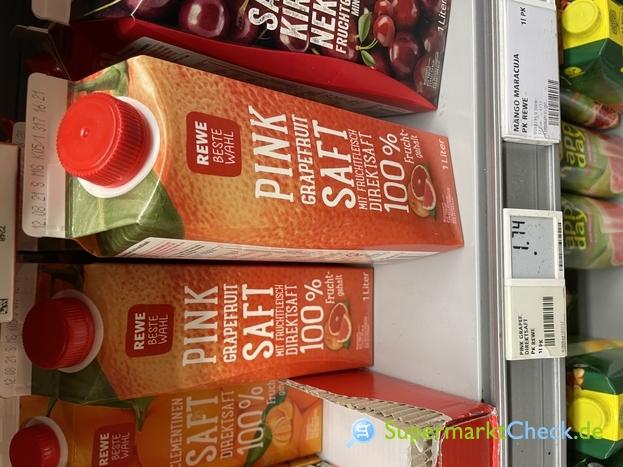 Foto von Rewe Beste Wahl Pink Grapefruit Direktsaft