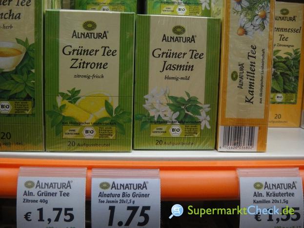 Foto von Alnatura Grüner Tee