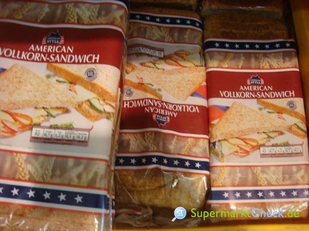 Foto von American Style Vollkorn Sandwich