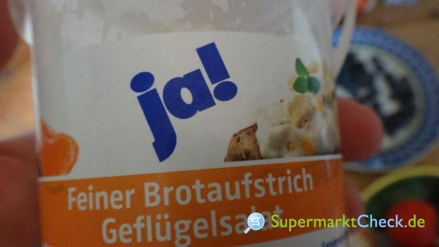 Foto von ja! Feiner Brotaufstrich Geflügelsalat