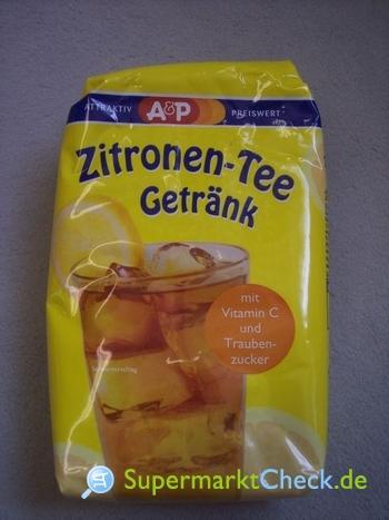 Foto von A&P Zitronen-Tee Getränkepulver