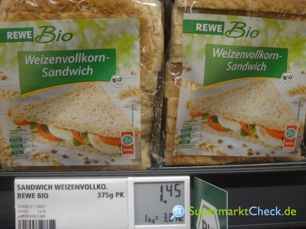 Foto von Rewe Bio Weizenvollkorn Sandwich