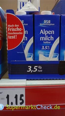 Foto von Weihenstephan Haltbare Alpenmilch