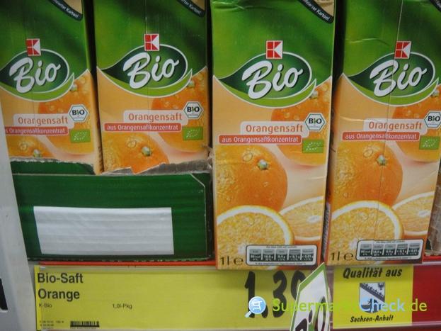 Foto von K Bio Orangensaft