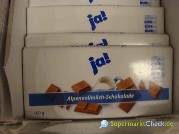 Foto von ja! Alpenvollmilch Schokolade