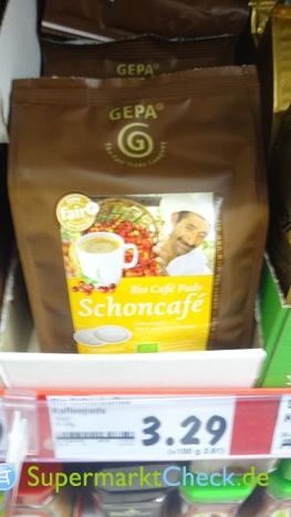 Foto von Gepa Bio Schonkaffee Pads