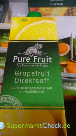 Foto von Pure Fruit Grapefruit Direktsaft