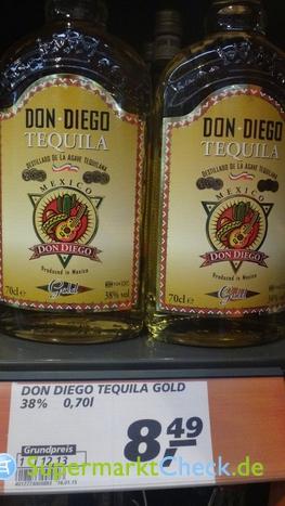 Foto von Don Diego Tequila Gold