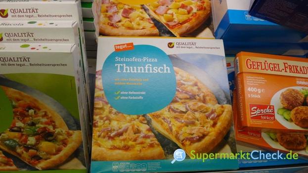 Foto von tegut Steinofen Pizza Thunfisch