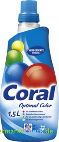 Foto von Coral Optimal Color Feinwaschmittel flüssig