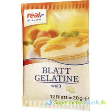Foto von real Quality Blatt-Gelatine 12-er