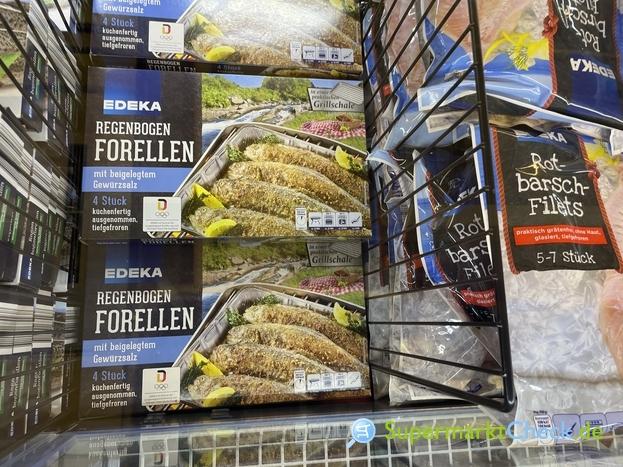 Foto von Edeka Regenbogen Forellen in der Grillschale