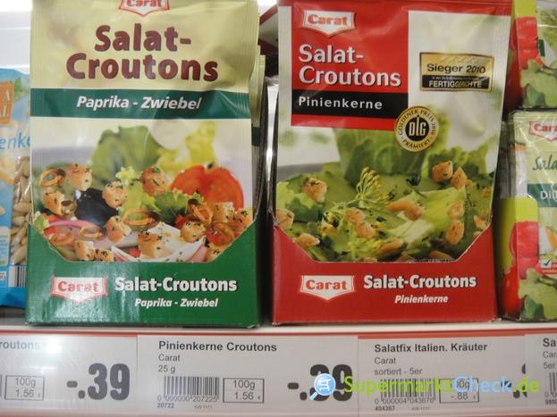 Foto von Carat / Netto Salat Croutons Pinienkerne