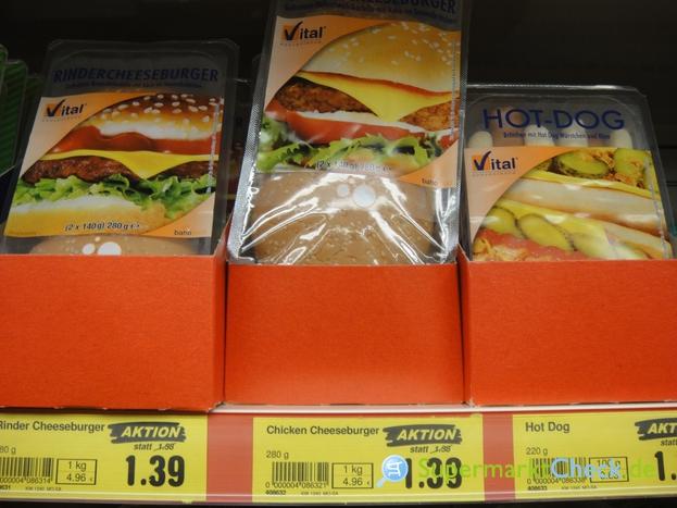 Foto von Vital Convenience Rinder Cheeseburger