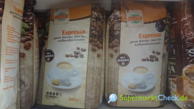 Foto von Globus Espresso Bohnen