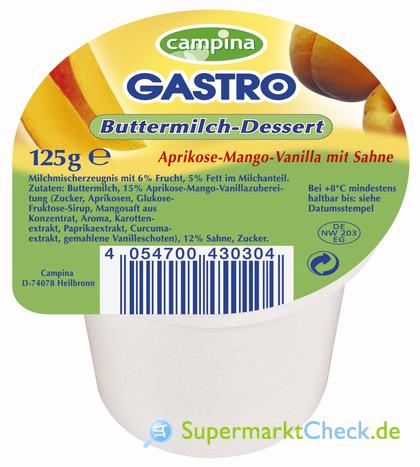 Foto von Campina Gastro Buttermilch-Dessert