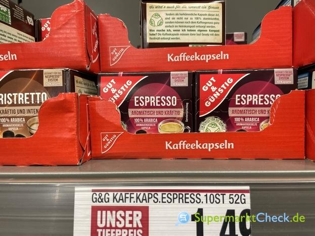 Foto von gut & Günstig Kaffee Kapseln