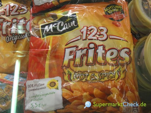 Foto von McCain 1-2-3 Frites hot & spicy