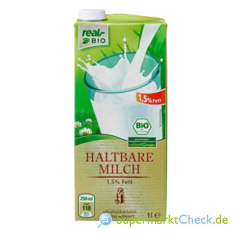 Foto von real bio Haltbare Milch