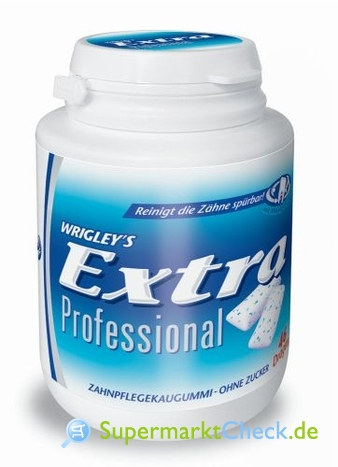 Foto von Wrigleys Extra Professional Strong Mint Dose