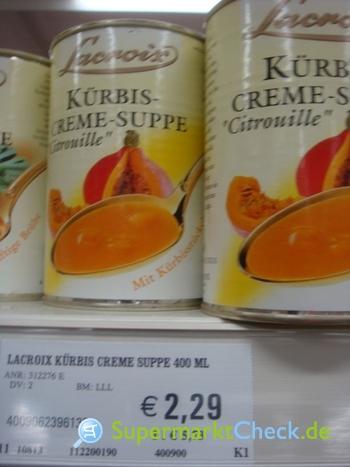 Foto von Lacroix Kürbis Creme Suppe